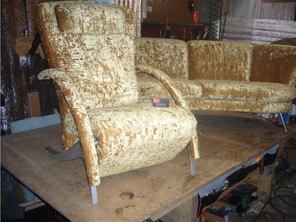 Как обшить кресло диван своими руками