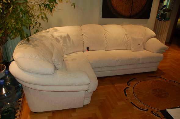 Обтянуть угловой диван  фото