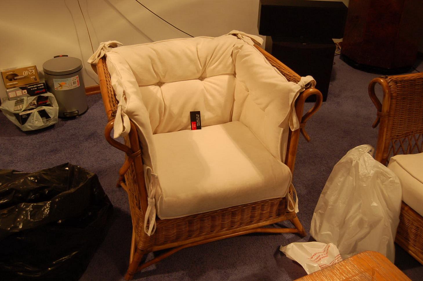 Мягкое сиденье на кресло своими руками