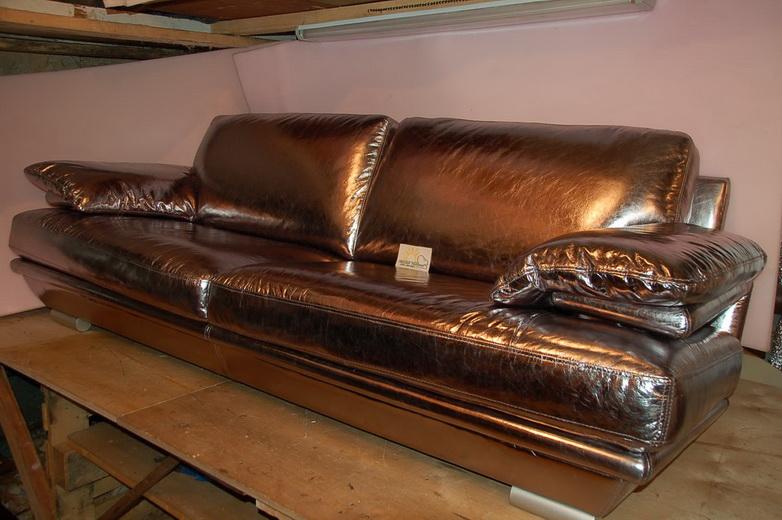 Перетяжка диванов кожа цена